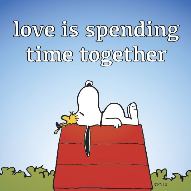 snoopy spending time